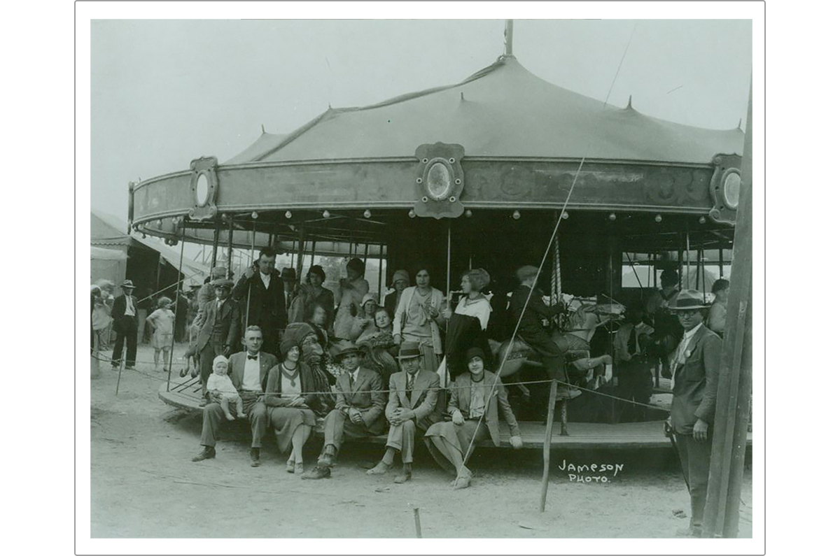 On the carousel at the Madison County Fair (All photos courtesy of the Hoover Presidential Library-Museum, West Branch, Iowa.)